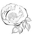 Black and white of stylized flower