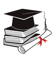 black graduation background vector image vector image