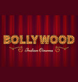 bollywood cinema poster vintage indian classic vector image vector image