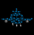 Bright mesh 2d cargo aircraft with light spots