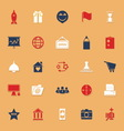 Business startup classic color icons with shadow vector image vector image