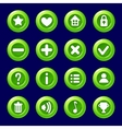 cartoon green Candy buttons for game vector image vector image