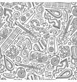 cartoon hand-drawn disco music seamless pattern vector image vector image