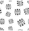 casino slot machine seamless pattern background vector image vector image
