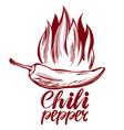 chili pepper and flame abstract symbol sign vector image vector image