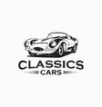 classic car vintage logo vector image