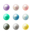 colorful blank round buttons realistic set vector image