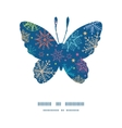 colorful doodle snowflakes butterfly silhouette vector image