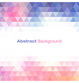 Colorful Light Geometric Background for your desig vector image vector image