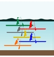Competitions in rowing and canoeing vector image vector image