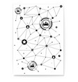 concept poster with scheme social media vector image vector image