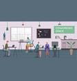 coworking space indoor composition vector image