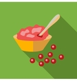 Cranberry sauce icon flat style vector image vector image