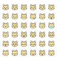 cute cat emotion face in various expession vector image