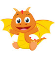 cute dragon cartoon vector image vector image
