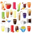 drinks set vector image vector image