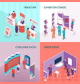 exhibition stands 2x2 design concept vector image vector image