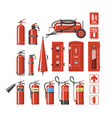 fire extinguisher fire-extinguisher to for vector image vector image