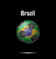 flag of brazil in the form of a soccer ball vector image