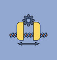 Flat icon design collection gears and wheels