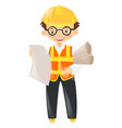 foreman holding lots of files vector image vector image