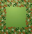 frame border seamless texture with berries vector image vector image