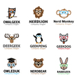 Geek Animals Design vector image