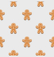 gingerbread man christmas cookies vector image