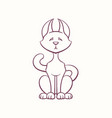 graceful calm cat sitting on its hind legs vector image vector image
