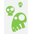 green stylized skull vector image vector image