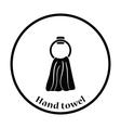Hand towel icon vector image vector image