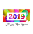 happy new year 2019 congratulation on the vector image