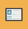 Id card profile person social media network icon - vector image
