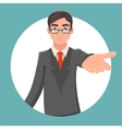 Invitation Cooperation Businessman Character vector image