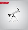 isolated telescope flat icon scope element vector image