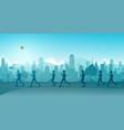 jogging in city vector image