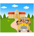 Little kids are going to home vector image vector image
