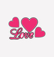 love background with hearts valentines day vector image vector image