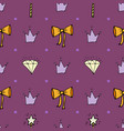 lovely seamless pattern with hand-drawn bows vector image vector image