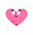 loves urprised emoji heart astonished emotion vector image vector image