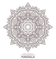 Mandala with decorative elements for coloring vector image