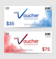 modern discount gift voucher template vector image vector image