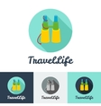 modern flat creative travel company minimalistic vector image vector image