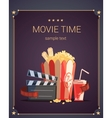 Movie Time Poster vector image vector image