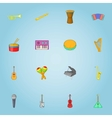 Musical instruments icons set cartoon style vector image vector image