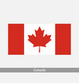national flag canada canadian country flag vector image