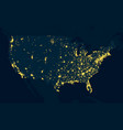 night map united states of america vector image vector image