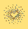 people in heap in form a symbol vector image vector image