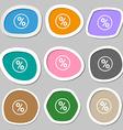 percentage discount icon symbols Multicolored vector image