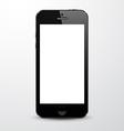Realistic black smartphone vector image